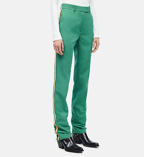 CALVINKLEIN Uniform Stripe Trousers - SAUGE - CALVIN KLEIN CLOTHES - main image