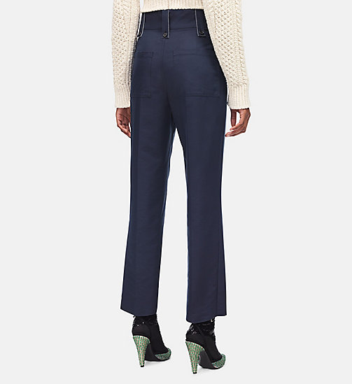 CALVINKLEIN Cotton Boiler Trousers - NAVY - CALVIN KLEIN CLOTHES - detail image 1
