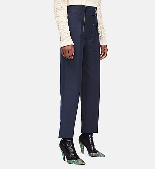 CALVIN KLEIN Cotton Boiler Trousers - NAVY - CALVIN KLEIN WOMEN - main image