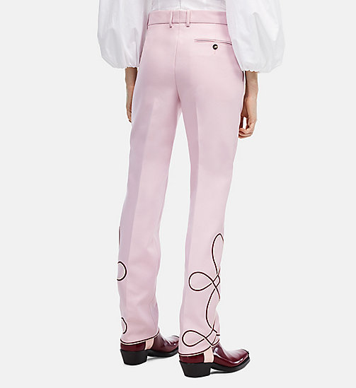 CALVINKLEIN Cropped Parade Trousers - BLUSH - CALVIN KLEIN CLOTHES - detail image 1