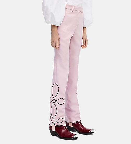 CALVINKLEIN Cropped Parade Trousers - BLUSH - CALVIN KLEIN CLOTHES - main image