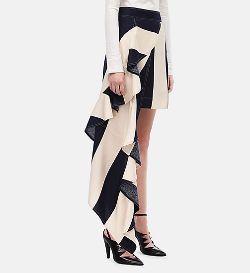 CALVIN KLEIN Flag Skirt - NAVY/CREAM - CALVIN KLEIN WOMEN - main image