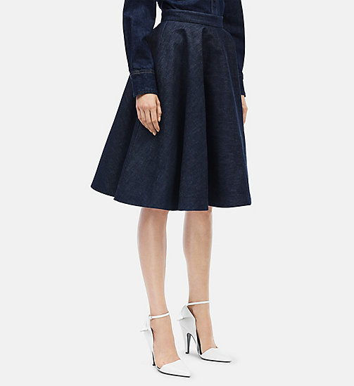 CALVIN KLEIN Denim Circle Skirt - BLUE - CALVIN KLEIN WOMEN - main image
