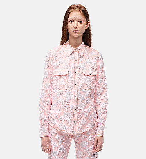 CALVINKLEIN Archive Western Shirt - ROSE WHITE - CALVIN KLEIN CLOTHES - main image