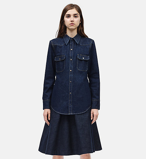 CALVINKLEIN Oversized Archive Western Shirt - BLUE - CALVIN KLEIN CLOTHES - main image