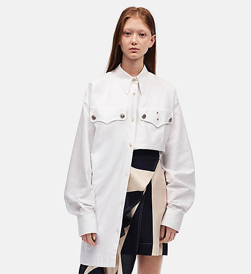 CALVIN KLEIN Oversized Policeman Shirt - OPTIC WHITE - CALVIN KLEIN SALE - detail image 1