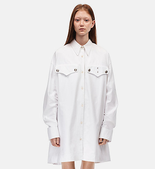 CALVIN KLEIN Oversized Policeman Shirt - OPTIC WHITE - CALVIN KLEIN WOMEN - main image