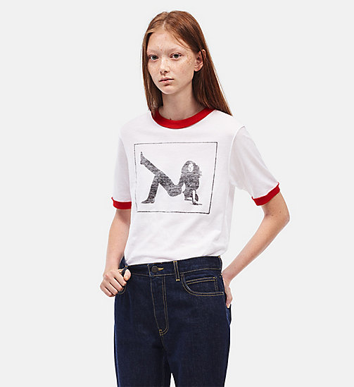 CALVINKLEIN Printed T-shirt - OFF WHITE - CALVIN KLEIN CLOTHES - main image