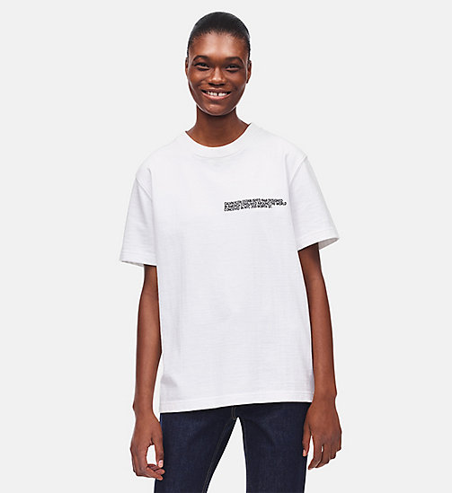 CALVINKLEIN Embroidered T-shirt - WHITE - CALVIN KLEIN CLOTHES - main image