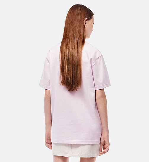 CALVINKLEIN Embroidered T-shirt - BLUSH - CALVIN KLEIN CLOTHES - detail image 1