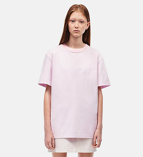 CALVINKLEIN Embroidered T-shirt - BLUSH - CALVIN KLEIN CLOTHES - main image