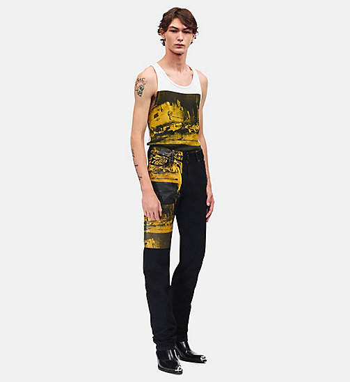 CALVINKLEIN Jean straight high rise - BLACK GOLDEN ROD -  VÊTEMENTS - image principale