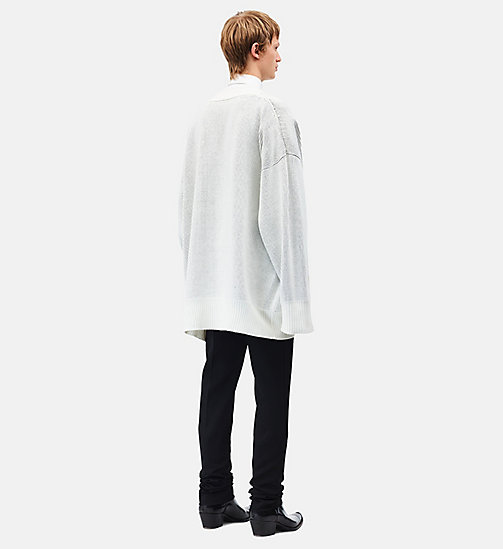 CALVINKLEIN Little Electric Chair Oversized Jumper - WHITE BLACK - CALVIN KLEIN CLOTHES - detail image 1