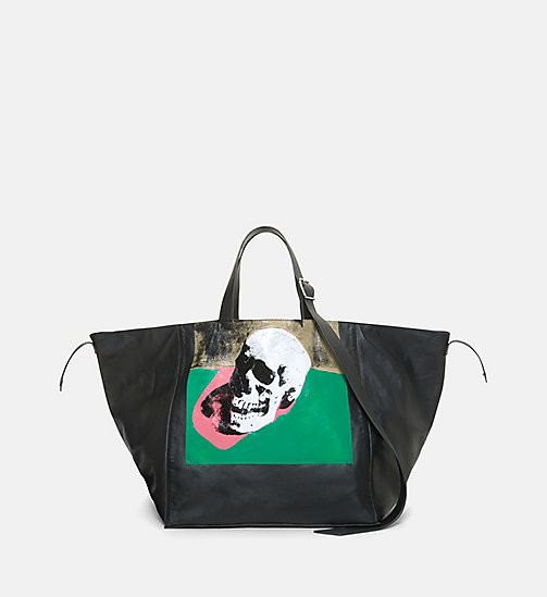 CALVINKLEIN Skull Tote Bag - BLACK MIX - CALVIN KLEIN SHOES & ACCESSORIES - main image