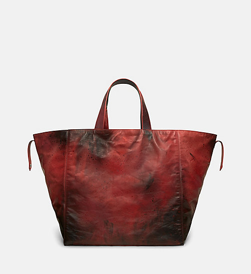CALVINKLEIN Little Electric Chair Tote Bag - RED BROWN BLACK - CALVIN KLEIN SHOES & ACCESSORIES - detail image 1