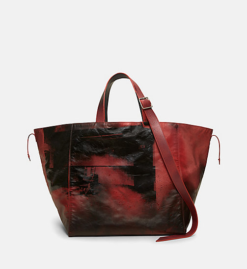 CALVIN KLEIN Little Electric Chair Tote Bag - RED BROWN BLACK - CALVIN KLEIN BAGS - main image