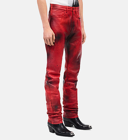 CALVINKLEIN Leather Jeans - FIRE RED BURNT RUSSETT - CALVIN KLEIN CLOTHES - detail image 1