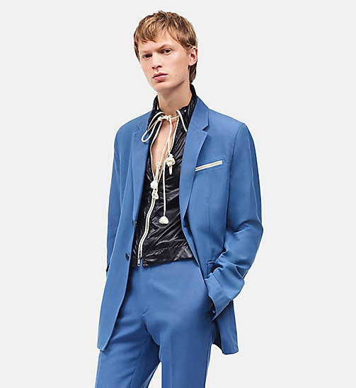 CALVIN KLEIN Boxy Single-Breasted Tent Jacket - AZURE - CALVIN KLEIN MEN - main image