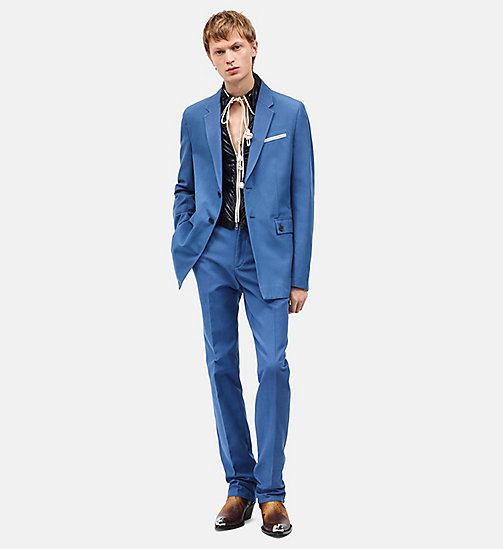 CALVIN KLEIN Tailored Tent Trousers - AZURE - CALVIN KLEIN MEN - main image