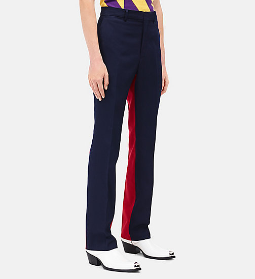 CALVINKLEIN Bicolour Slim Trousers In Wool Gabardine - NAVY SCARLET - CALVIN KLEIN CLOTHES - detail image 1