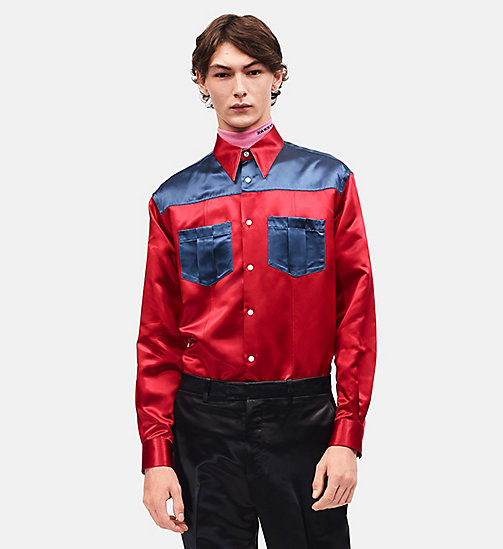 CALVINKLEIN Diner Uniform Shirt - BRIGHT SCARLET - CALVIN KLEIN CLOTHES - main image