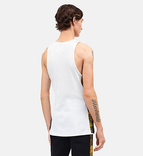 CALVINKLEIN Car Crash Sleeveless Tank Top - OPTIC WHITE GOLDENROD - CALVIN KLEIN CLOTHES - detail image 1