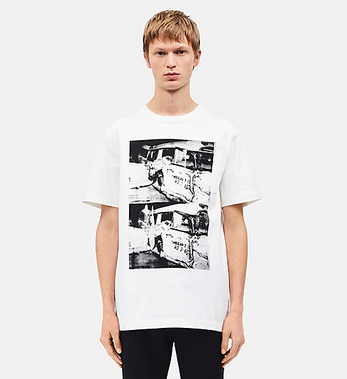 CALVINKLEIN Ambulance Disaster Patch Pocket T-shirt - WHITE - CALVIN KLEIN CLOTHES - main image