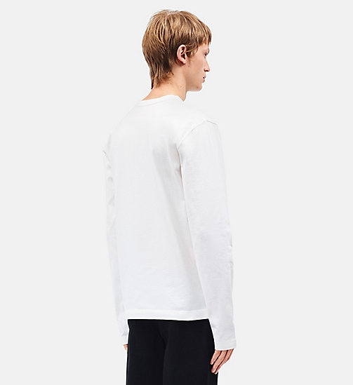CALVINKLEIN Burning Car Long Sleeve T-shirt - WHITE - CALVIN KLEIN CLOTHES - detail image 1