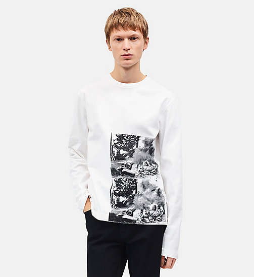 CALVINKLEIN Burning Car Long Sleeve T-shirt - WHITE - CALVIN KLEIN CLOTHES - main image