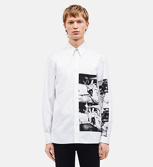 CALVINKLEIN Ambulance Disaster Medium-Fit Shirt - OPTIC WHITE -  CLOTHES - main image
