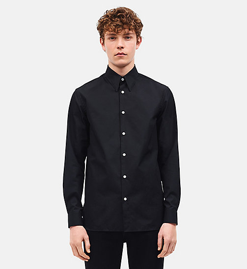 CALVINKLEIN Camisa slim Little Electric Chair - BLACK CREAM - CALVIN KLEIN ROPA - imagen detallada 1