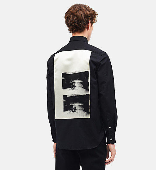 CALVINKLEIN Camisa slim Little Electric Chair - BLACK CREAM - CALVIN KLEIN ROPA - imagen principal
