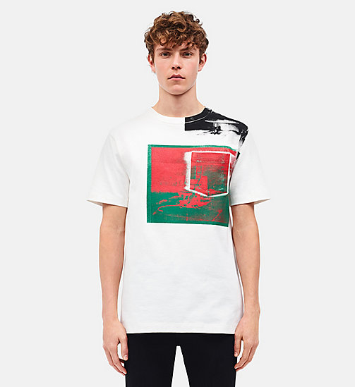 CALVINKLEIN Camiseta Little Electric Chair con bolsillo de parche - WHITE GREEN RED -  ROPA - imagen principal