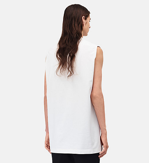 CALVINKLEIN Burning Car Oversized Sleeveless T-shirt - WHITE -  CLOTHES - detail image 1
