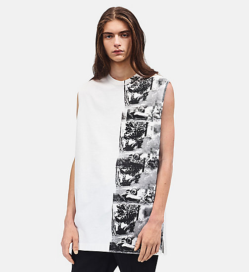 CALVINKLEIN Burning Car Oversized Sleeveless T-shirt - WHITE - CALVIN KLEIN CLOTHES - main image