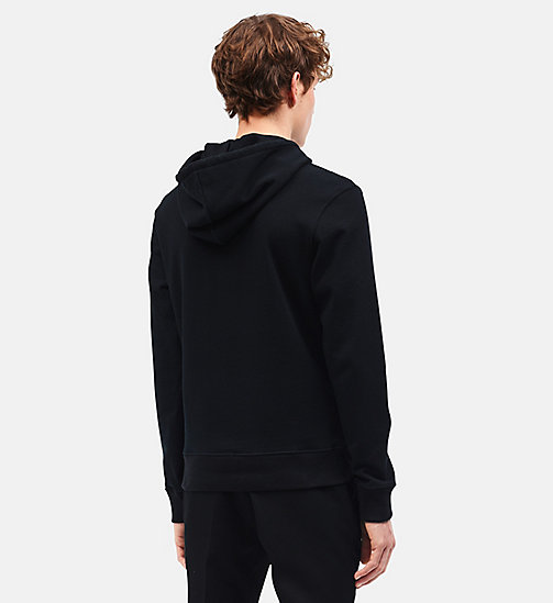 CALVINKLEIN Car Crash Hooded Sweatshirt - BLACK BRIGHT AQUA - CALVIN KLEIN CLOTHES - detail image 1