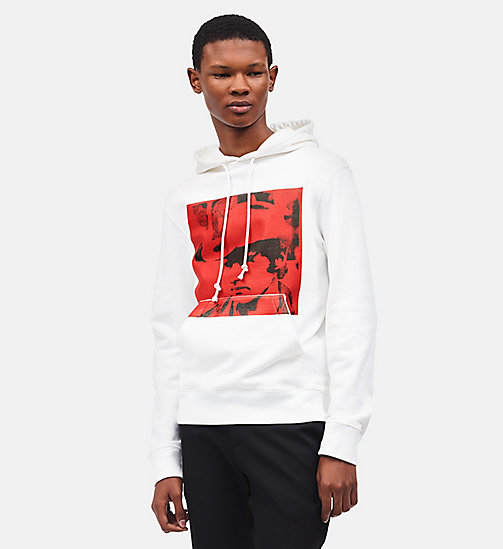 CALVINKLEIN Dennis Hopper Hooded Sweatshirt - WHITE MOLTEN LAVA -  CLOTHES - main image