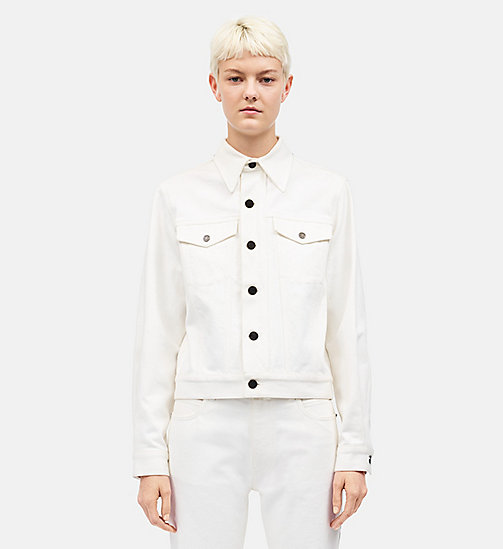 CALVINKLEIN Ambulance Disaster Trucker Jacket - WHITE - CALVIN KLEIN CLOTHES - detail image 1
