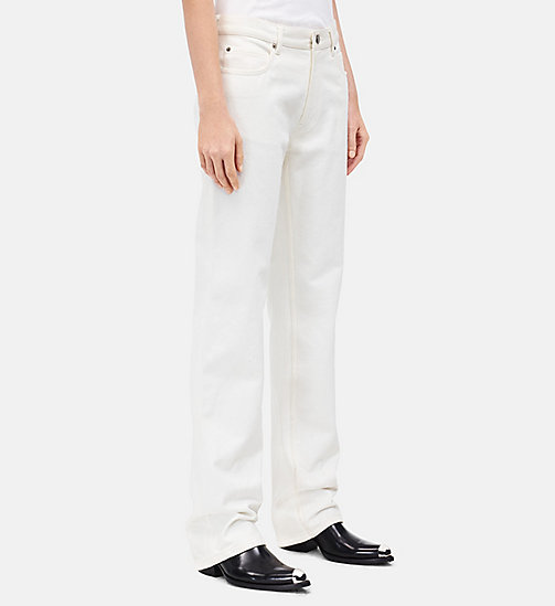 CALVINKLEIN Straight Leg High Rise Jeans - WHITE - CALVIN KLEIN CLOTHES - detail image 1