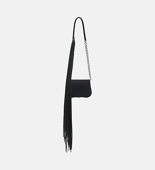 CALVINKLEIN Mini Chain Clutch With Fringe - BLACK - CALVIN KLEIN SHOES & ACCESSORIES - detail image 1