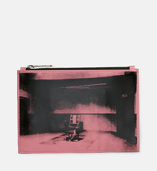 CALVINKLEIN Little Electric Chair Small Pouch - ROSE BLACK - CALVIN KLEIN SHOES & ACCESSORIES - main image