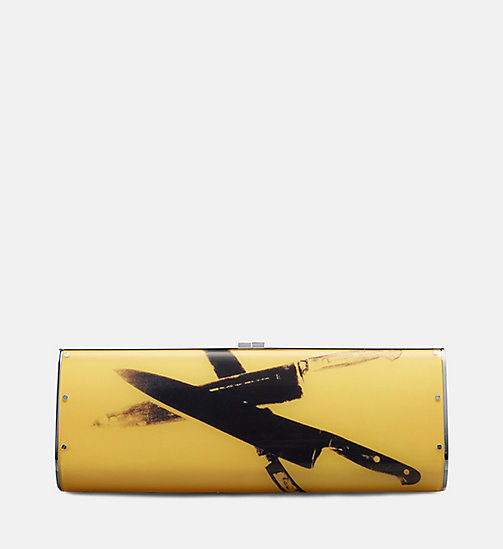 CALVINKLEIN Acrylic Knives Clutch - SUN - CALVIN KLEIN SHOES & ACCESSORIES - main image
