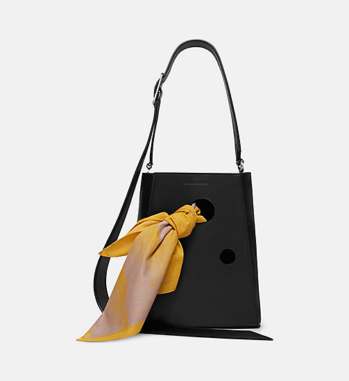 CALVINKLEIN Small Bucket Bag With Bandana - BLACK - CALVIN KLEIN SHOES & ACCESSORIES - main image