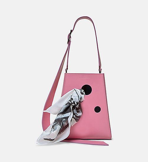 CALVINKLEIN Small Bucket Bag With Bandana - ROSE - CALVIN KLEIN SHOES & ACCESSORIES - main image