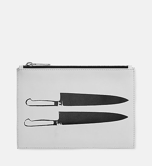 CALVINKLEIN Knives Small Pouch - WHITE BLACK - CALVIN KLEIN SHOES & ACCESSORIES - main image