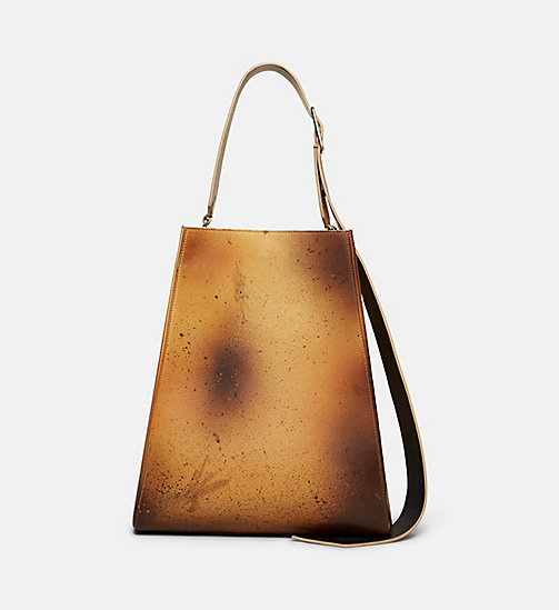 CALVINKLEIN Sandra Brant Large Bucket Bag - AMBER BLACK - CALVIN KLEIN SHOES & ACCESSORIES - detail image 1