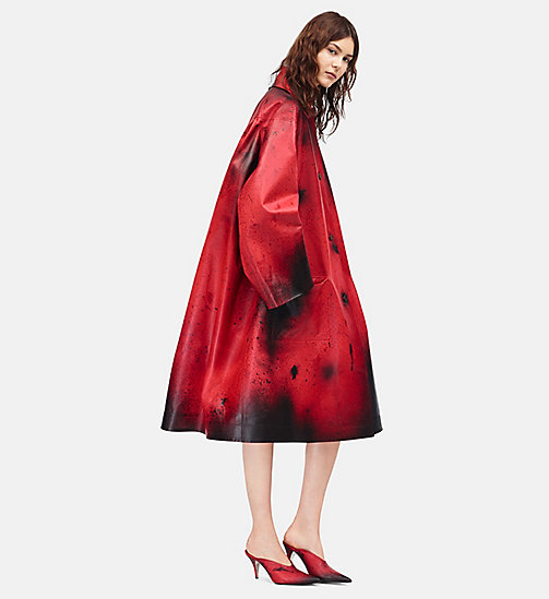 CALVINKLEIN Leather Oversized Couture Coat - FIRE RED BURNT RUSSETT - CALVIN KLEIN CLOTHES - main image
