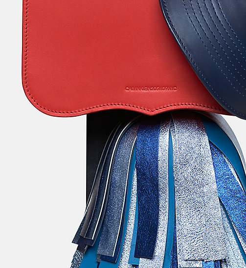 CALVIN KLEIN Calf Leather Charm Bag - BRIGHT RED NAVY - CALVIN KLEIN BAGS - detail image 1