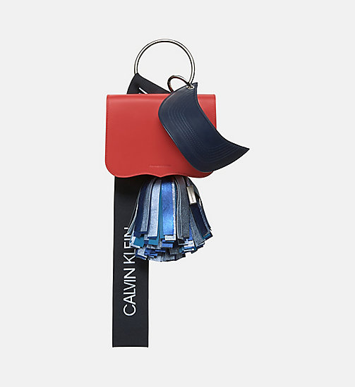 CALVINKLEIN Calf Leather Charm Bag - BRIGHT RED NAVY - CALVIN KLEIN SHOES & ACCESSORIES - main image