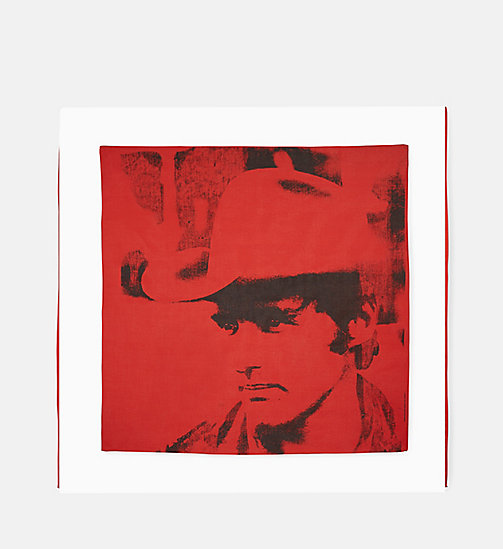 CALVINKLEIN Dennis Hopper Small Bandana - RED -  SHOES & ACCESSORIES - main image